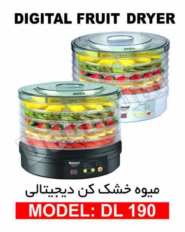 میوه خشک کن دیجیتالی دلمونتی DEMONTI مدل DL 190